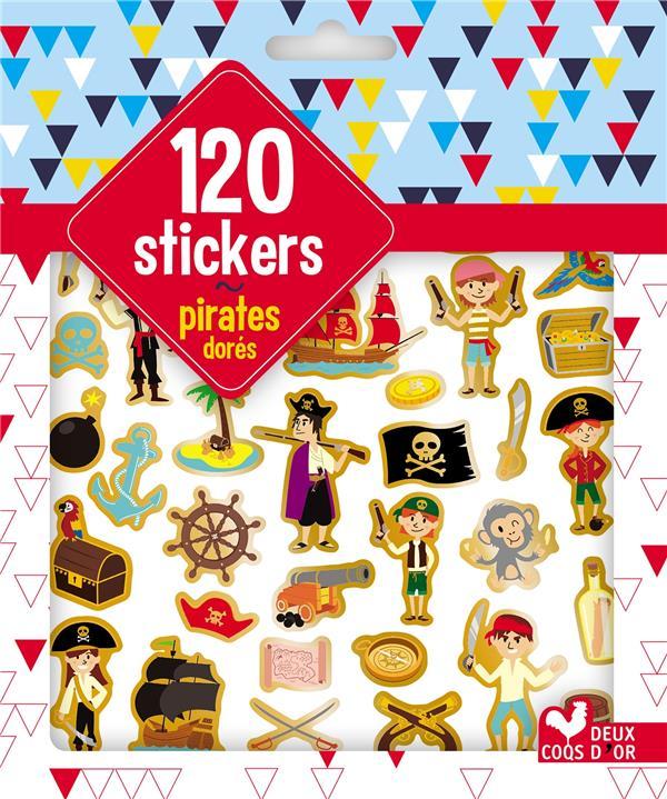 GOMMETTES ; 120 stickers pirates dorés