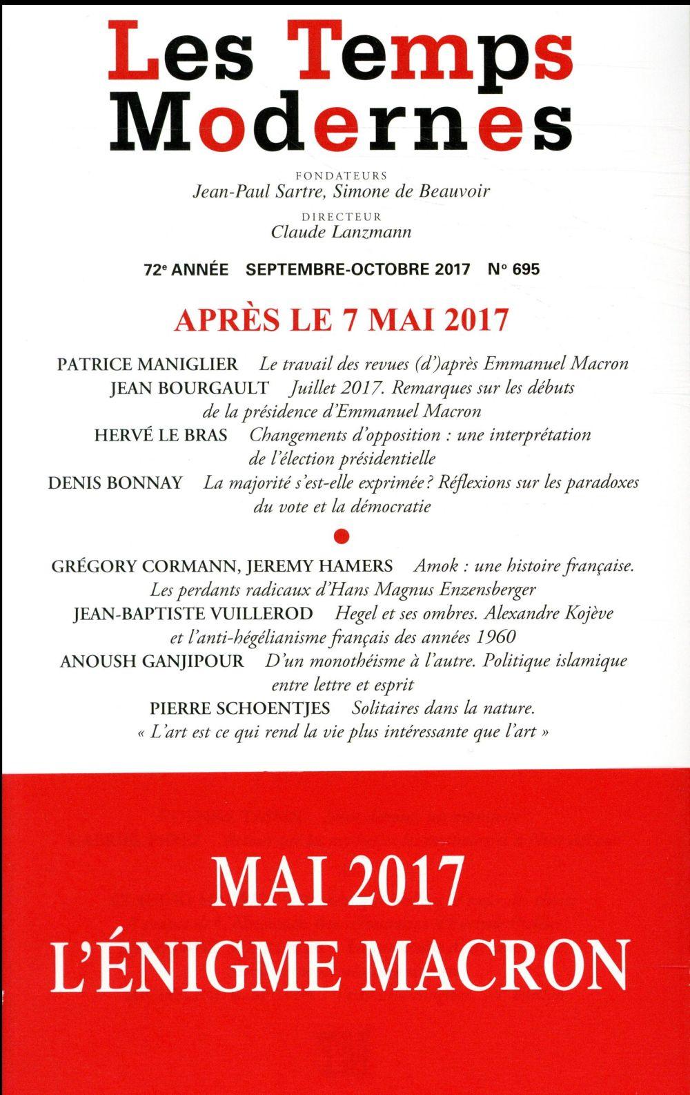 Revue les temps modernes ; apres le 7 mai 2017
