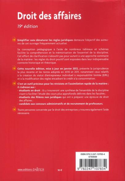 droit des affaires (19e édition)