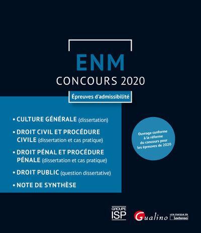 ENM ; concours 2020 ; épreuves d'admissibilité