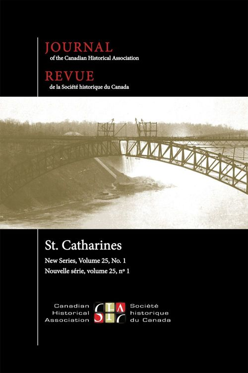 Journal of the Canadian Historical Association. Vol. 25 No. 1,  2014
