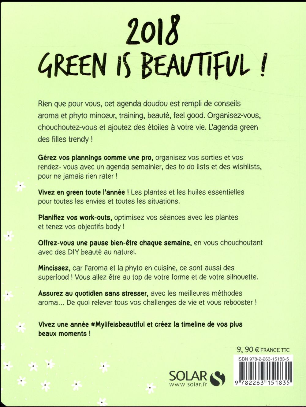 MON CAHIER ; my life is green ; huiles essentielles & plantes (édition 2018)