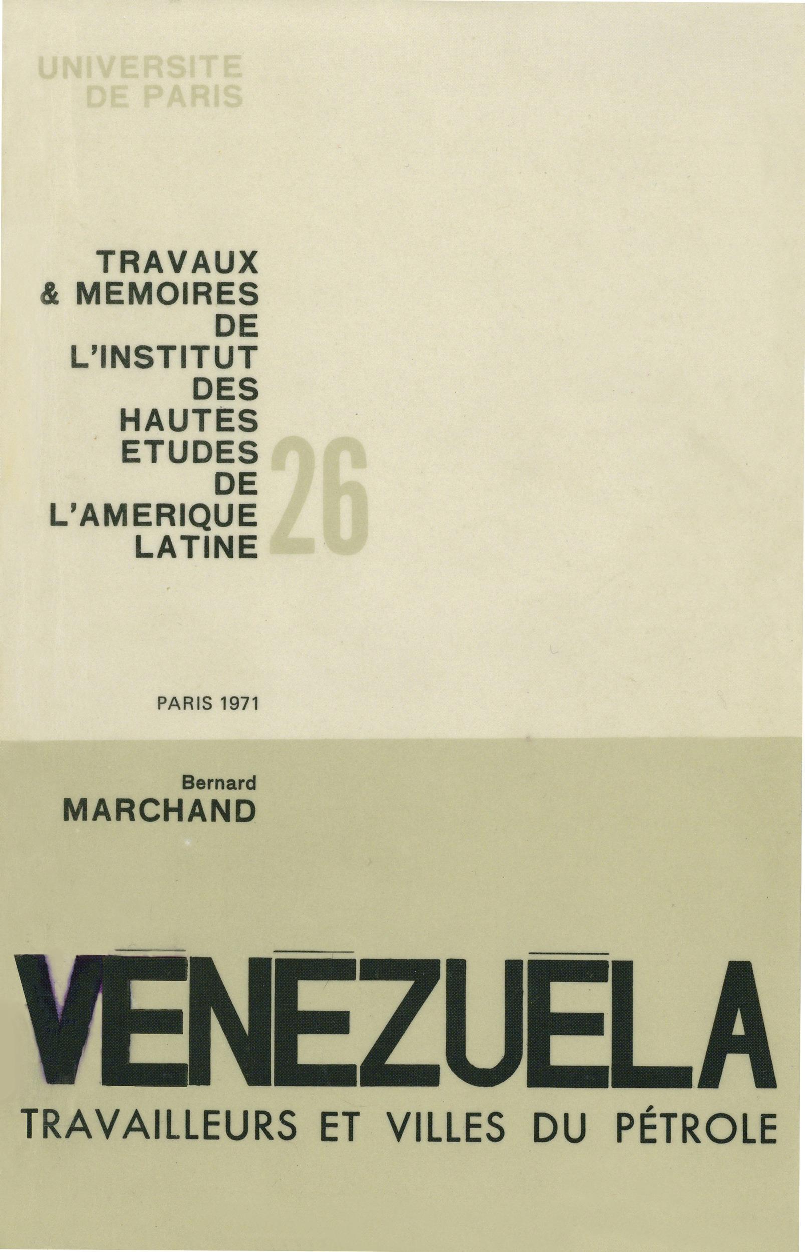 Venezuela : travailleurs et villes petrole.