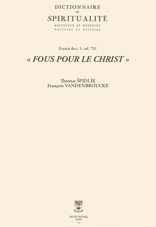 «FOUS POUR LE CHRIST»