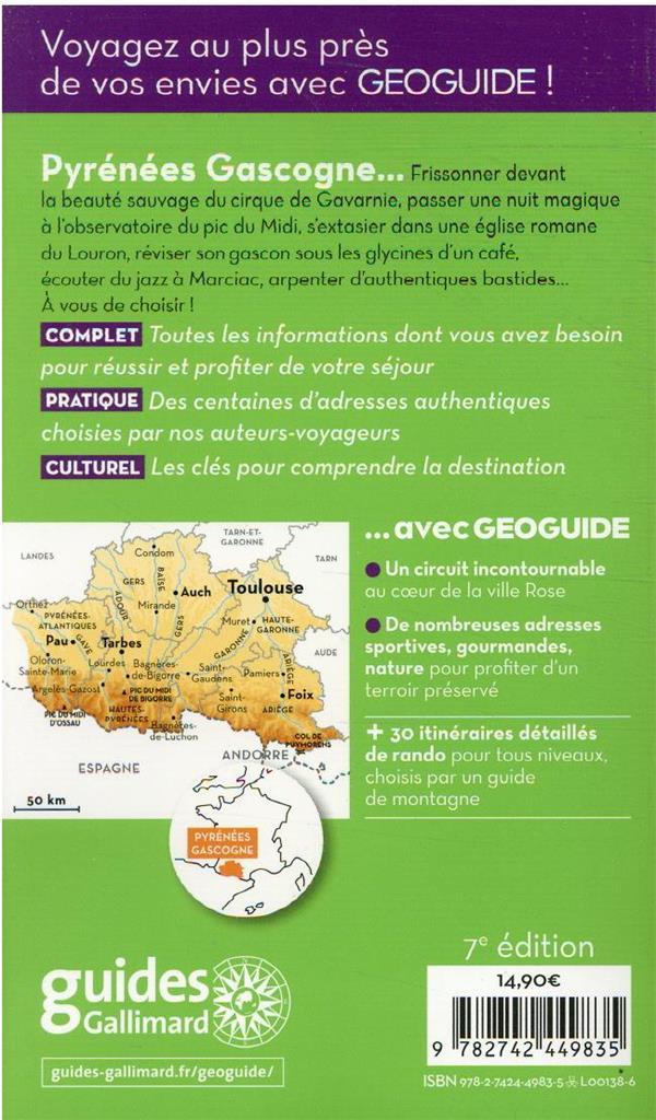 GEOguide ; Pyrénées Gascogne ; Toulouse, Pau, Auch, Foix