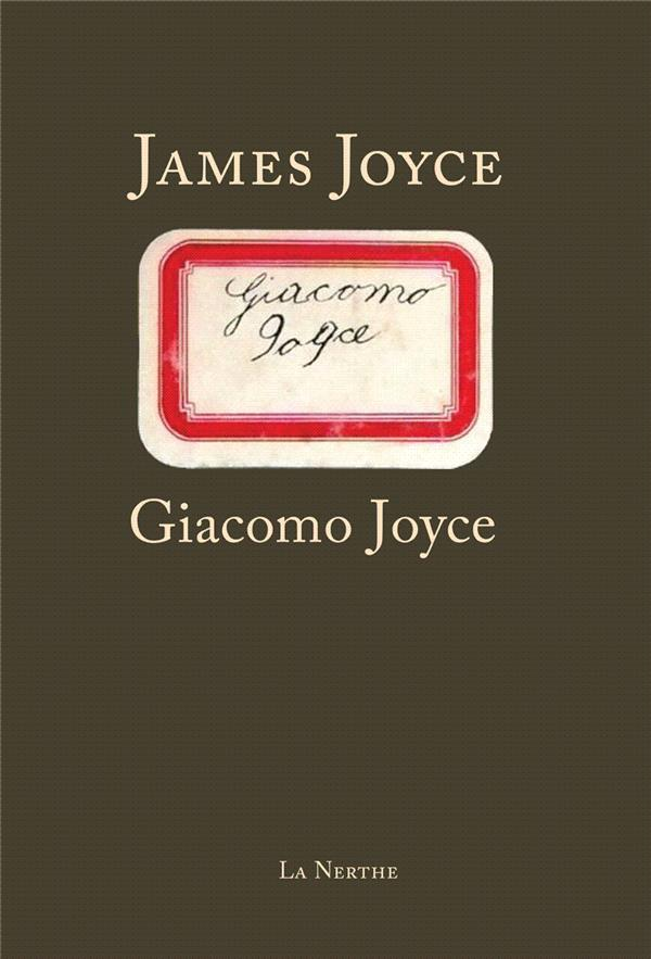 GIACOMO JOYCE JOYCE JAMES