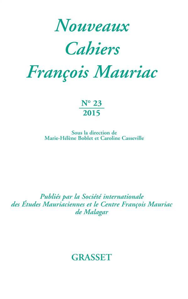 Nouveaux cahiers François Mauriac t.23