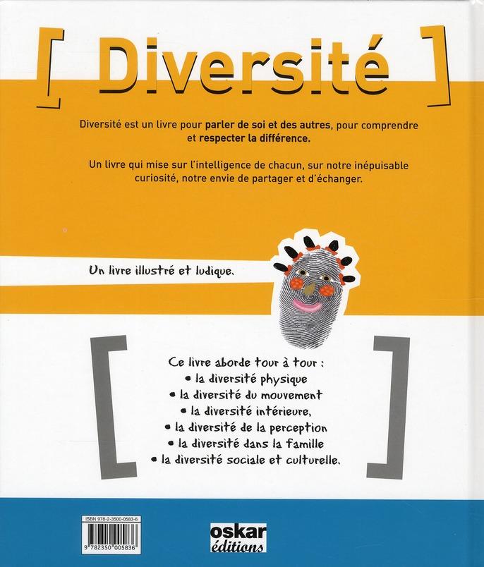 Diversité ; tous différents, uniques, exceptionnels