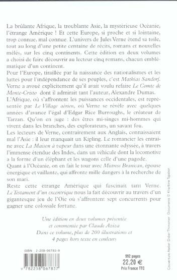 les romans des cinq continents - tome 2 - vol02