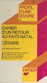 Vente EBooks : Cahier d'un retour au pays natal  - Maryse CONDÉ