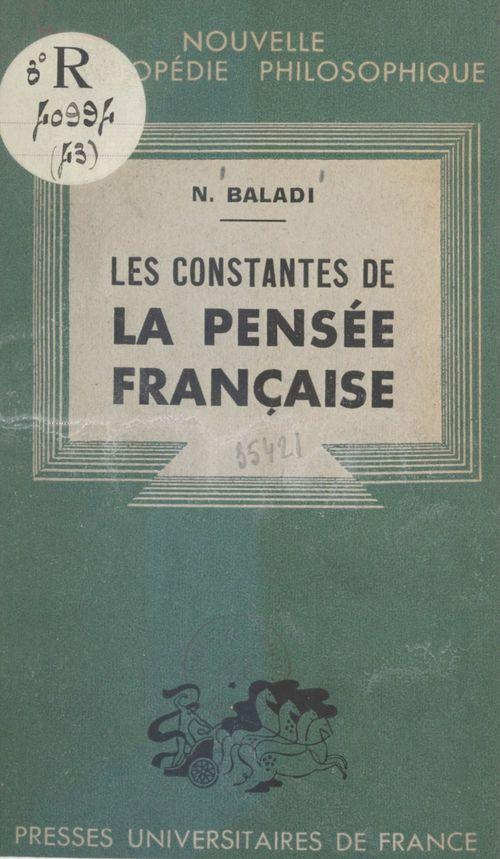 Les constantes de la pensée française
