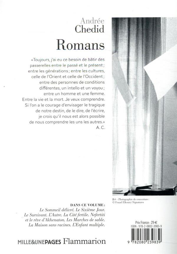 Andrée Chedid, romans