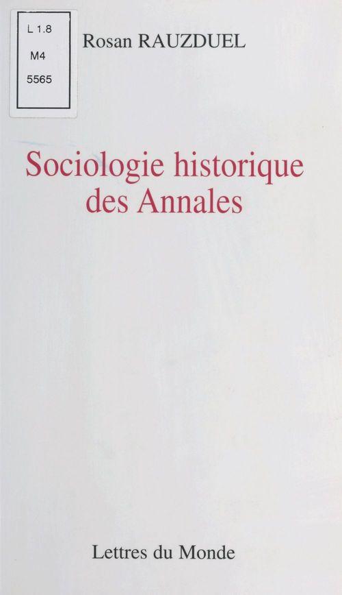 Sociologie historique des annales