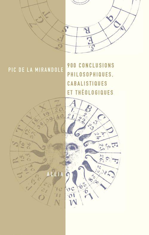 900 conclusions philosophiques, cabalistiques et théologique