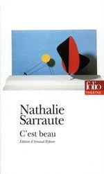 Vente Livre Numérique : C'est beau (édition enrichie)  - Nathalie Sarraute