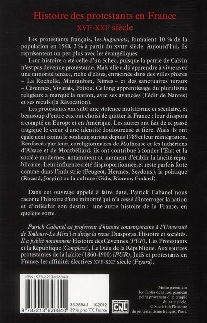 Histoire des protestants en France de Calvin à aujourd'hui