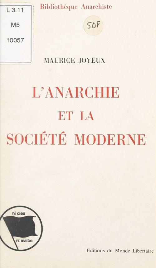 L'anarchie et la société moderne