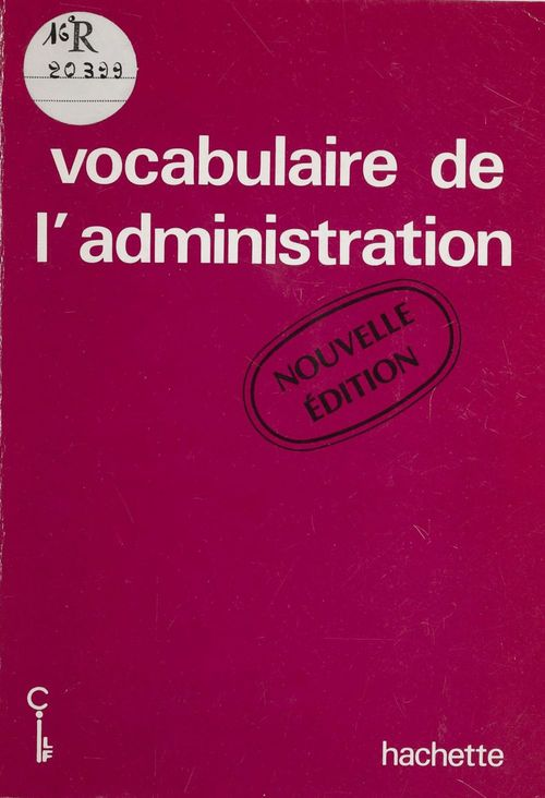 Vocabulaire d'administration