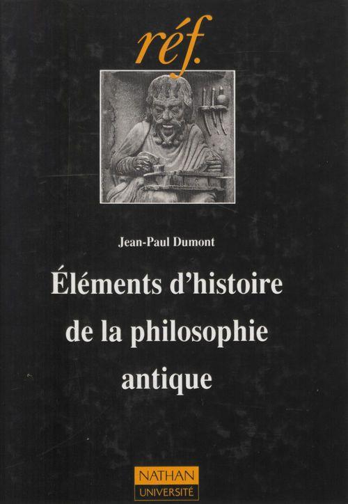 Elements d'histoire de la philo. antique