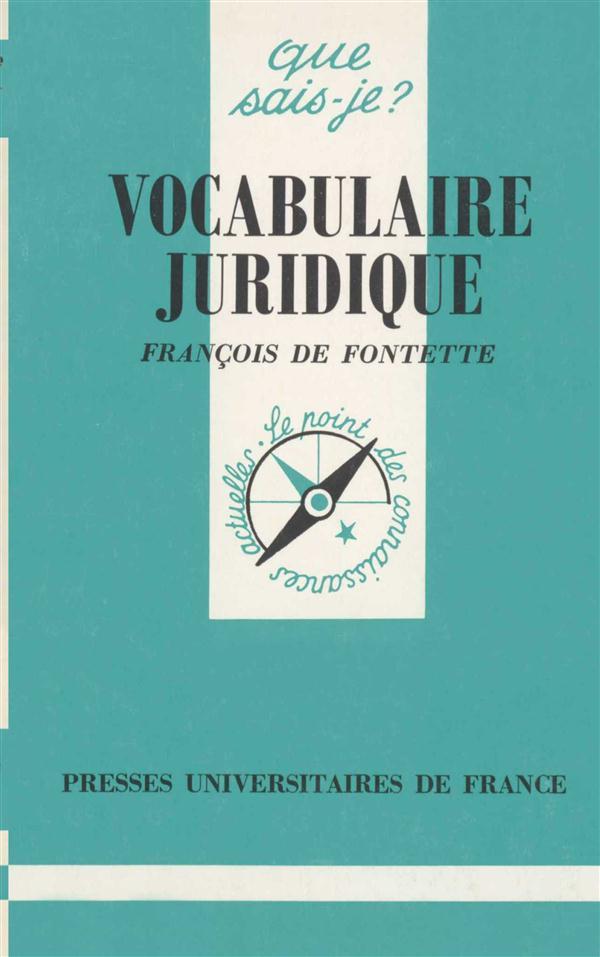 Le Vocabulaire Juridique (6e Edition)