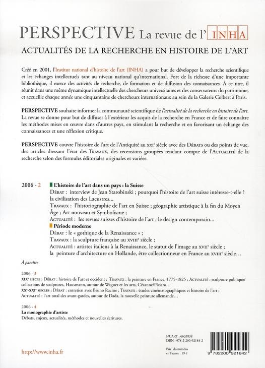 perspective t.2 ; la suisse, période moderne