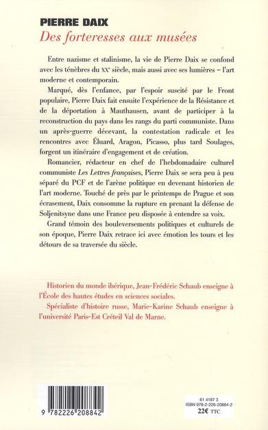 des forteresses aux musées ; entretiens avec Jean-Frédérique Schaub
