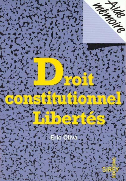 aide memoire de droit constitutionnel