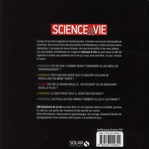200 questions de la vie ; 200 réponses de la science ; science & vie