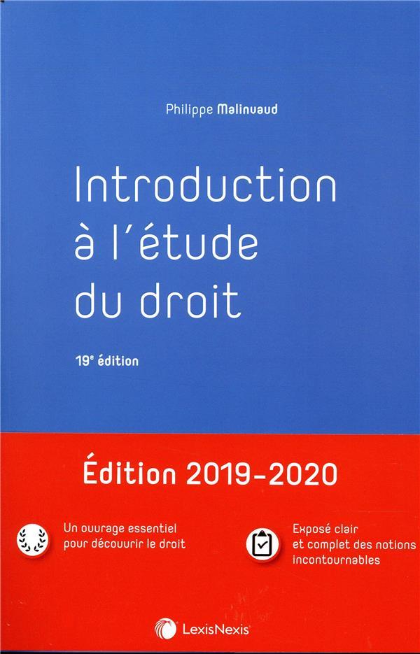 Introduction à l'étude du droit (19e édition)