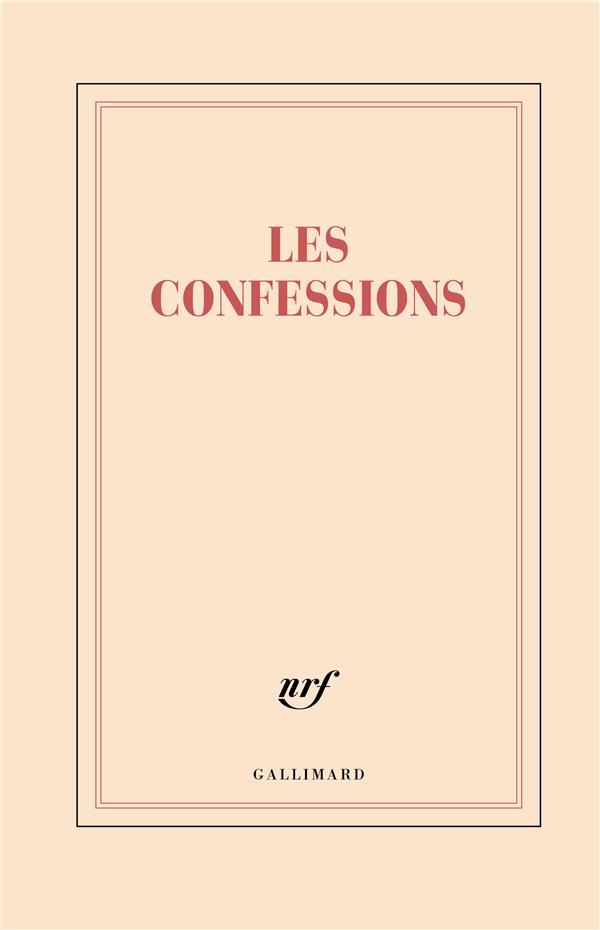 Grand carnet rigide ligné les confessions