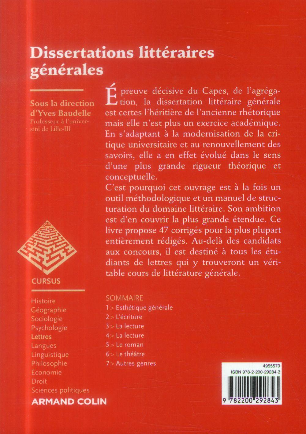 Dissertations littéraires générales (4e édition)