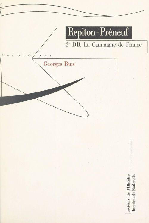 2e DB  - Paul Repiton-Préneuf