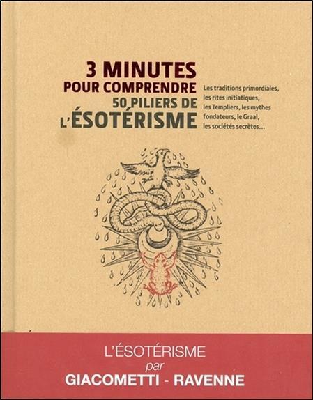 3 minutes pour comprendre ; les 50 piliers de l'ésotérisme ; les traditions primordiales, les enseignements Fulcanelli, les mythes fondateurs, René Guénon, les sociétés secrètes...