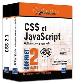 Css et javascript ; coffret de 2 livres ; optimisez vos pages web
