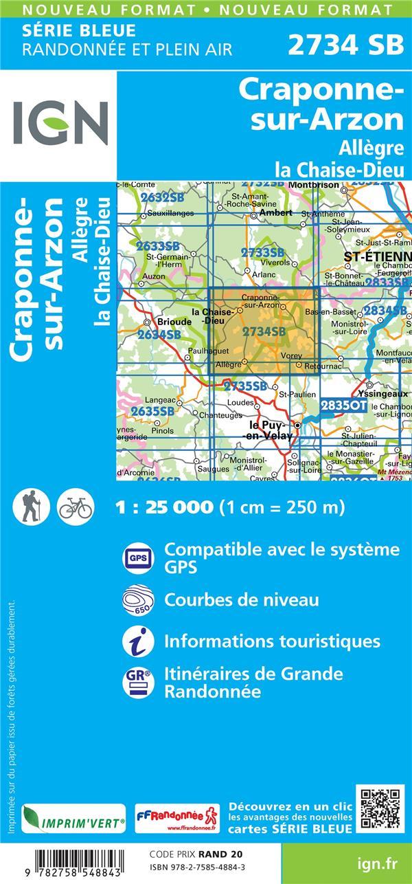2734SB ; Craponne-sur-Arzon, Allègre, la Chaise-Dieu