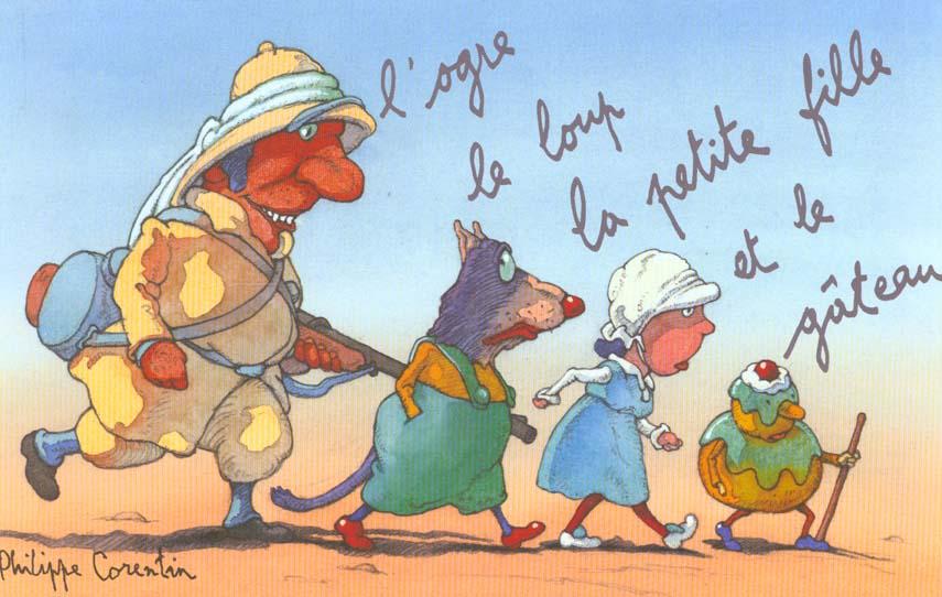 L'Ogre, Le Loup, La Petite Fille Et Le Gateau