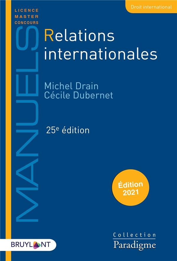 Relations internationales (édition 2021)