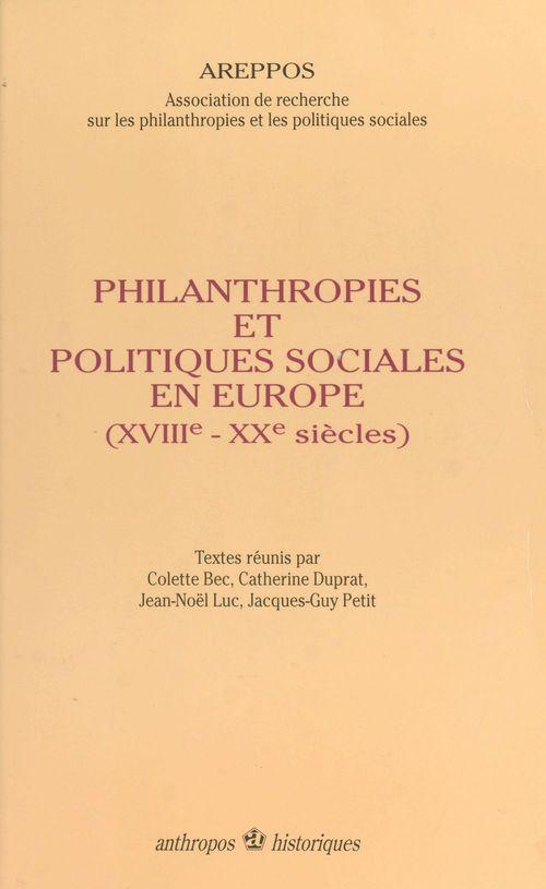 Philanthropies et politiques sociales en europe