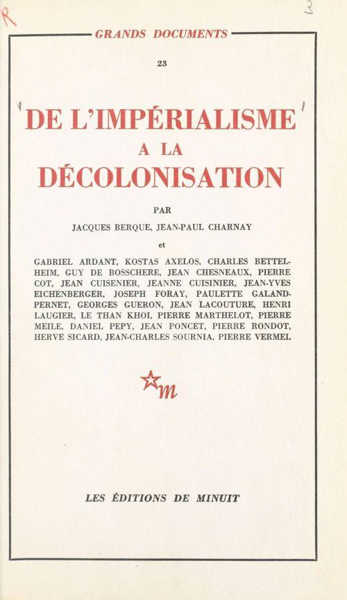 De l'impérialisme à la décolonisation