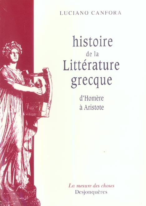 Histoire de la litterature grecque d'homere a aristote