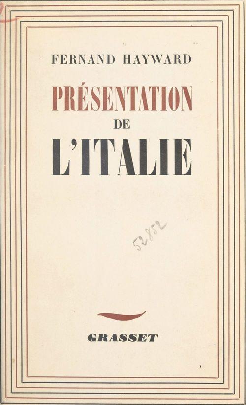 Présentation de l'Italie  - Fernand Hayward