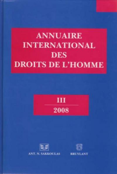 Annuaire international des droits de l'homme (édition 2008)