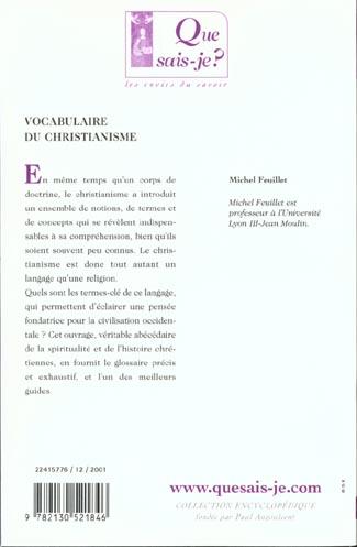 Vocabulaire du christianisme (2e edition)