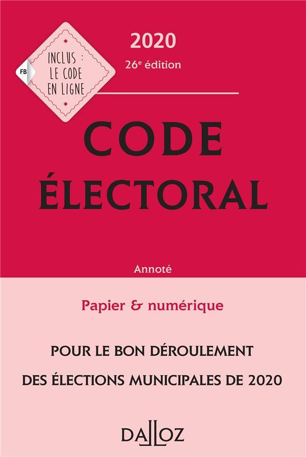 Code électoral, annoté (édition 2020)