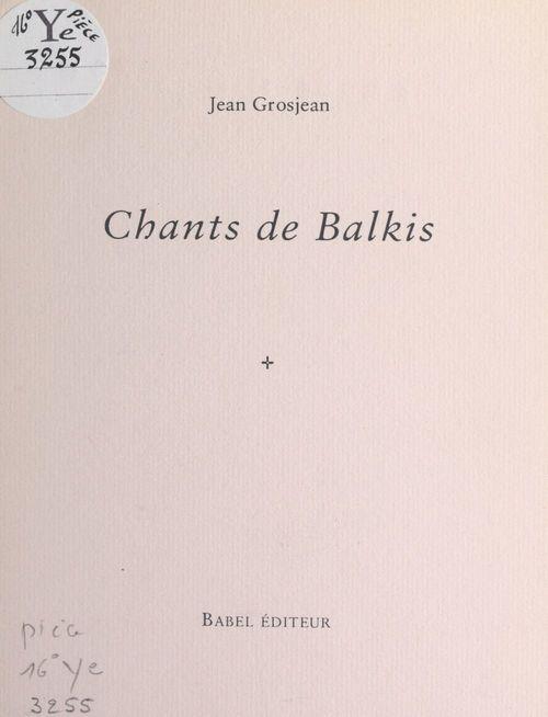 Chants de Balkis