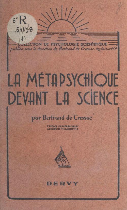 La métapsychique devant la science