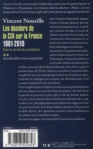 Dans le secret des présidents t.2 ; les dossiers de la CIA sur la France, 1981-2010
