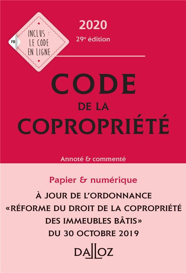 Code de la copropriété, annoté et commenté (édition 2020)
