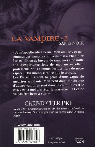 La vampire t.2 ; sang noir