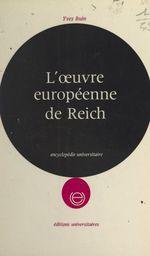L'oeuvre européenne de Reich